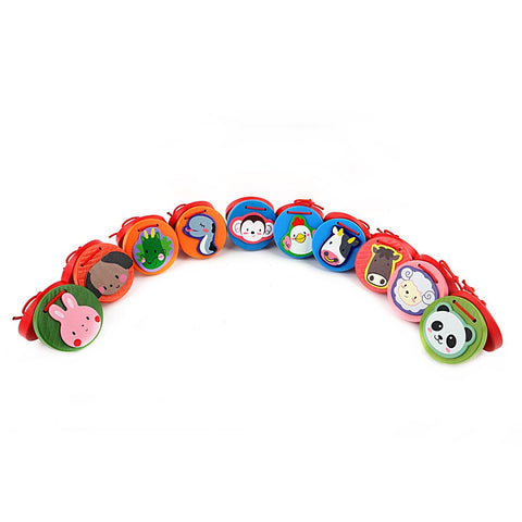 Wooden Musical Cartoon Animal Castanets Preschool Puzzle Enlightenment Toys