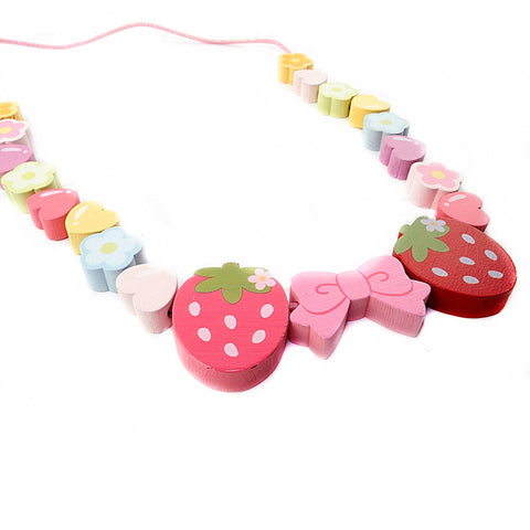 Mother Garden Strawberry Wooden Beads