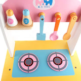 Wooden Pink Kitchen Play Set