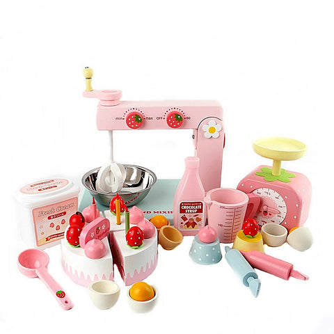 Mother Garden Wooden Strawberry Cake Making Machine Set