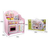 Lovely Pink Wooden Play Kitchen Set