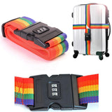 Rainbow Travel Luggage Strap Lock Luggage Belt