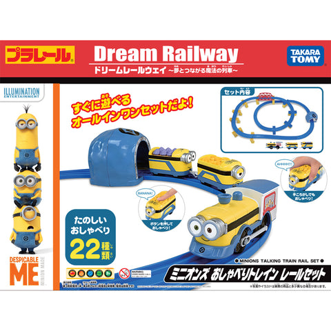 Takara Tomy Disney Dream Railway Despicable Me Minions Talking Train Rail Set