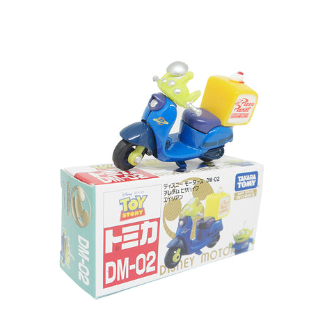 Takara Tomy Tomica Disney Motors DM-02 Toy Story Chim Chim Pizza Bike Alien