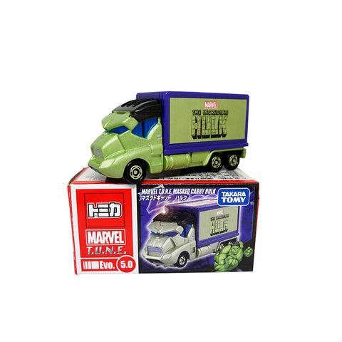 Takara Tomy Tomica Marvel Hulk Tune Evo.5.0 Masked Carry Car
