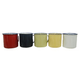 Retro Color Enamel Mug 5pc Set