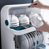 Kitchen Drying Dish Rack Storage Organizer With Removable Drain Tray