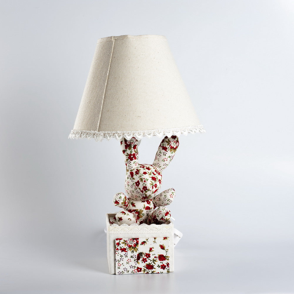 Kala Floral and Lace Bunny Lamp