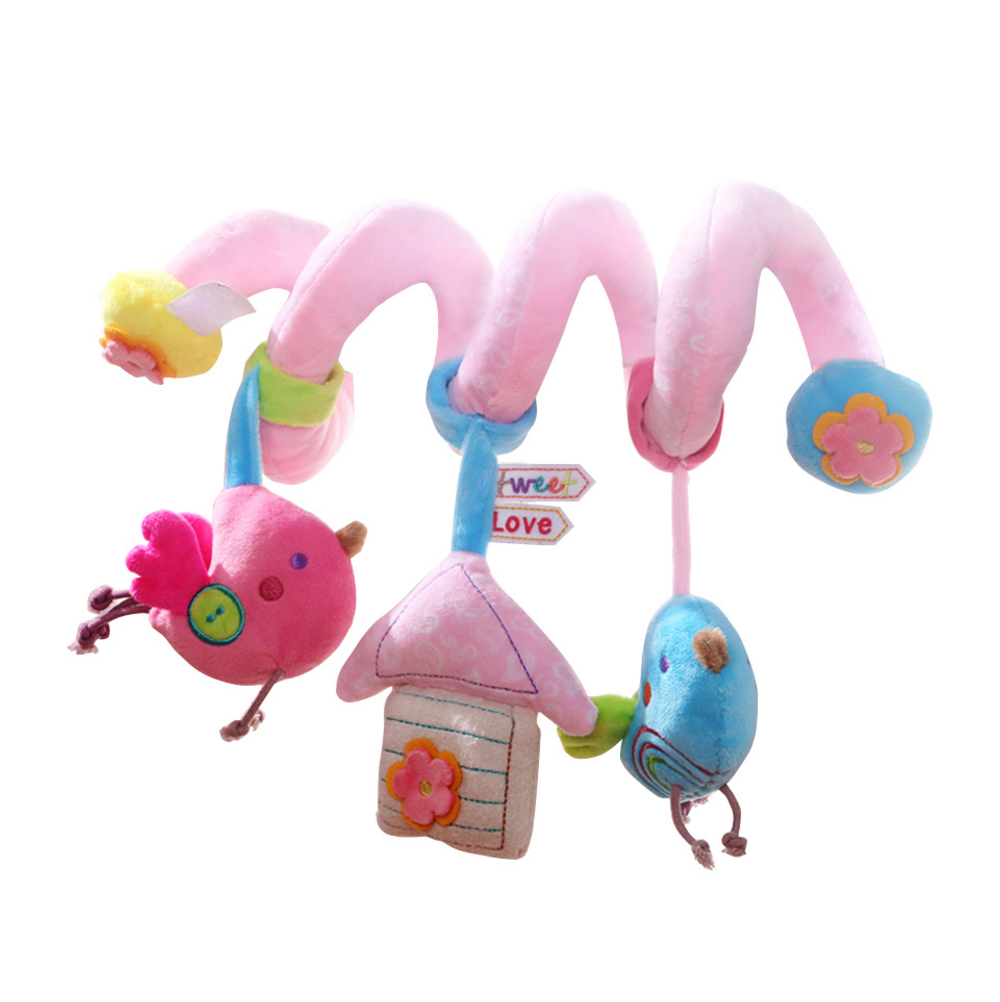 Bird and House Crib and Stroller Spiral Toy