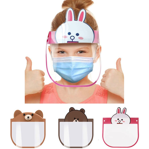 Cartoon Kids Face Protective Shield 3 Pcs Set
