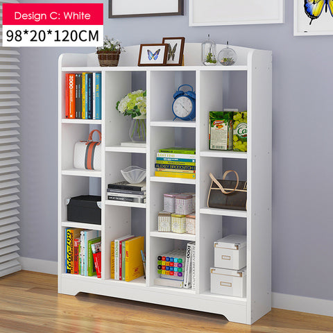 Multi-Purpose Wooden Book Shelf - Design C(4 Color)