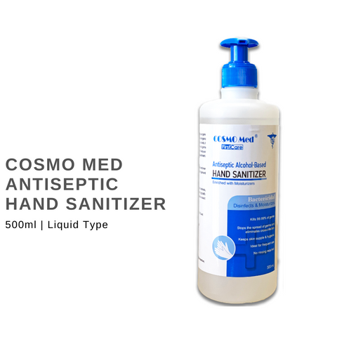 COSMO Med – Antiseptic Hand Sanitizer, Alcohol-based, 500ml