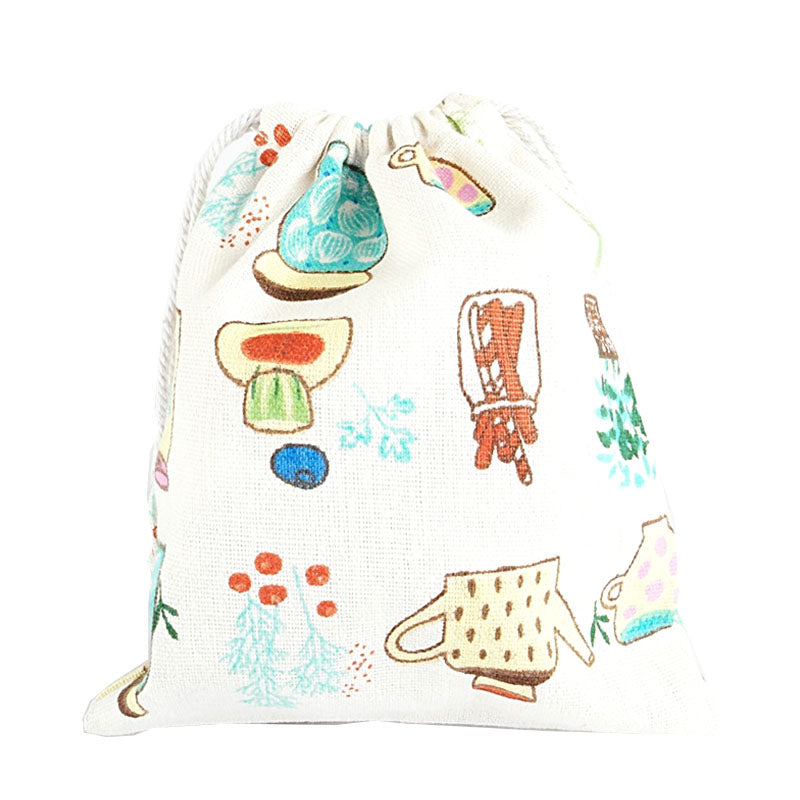 Bottles and Plants Canvas Pouch