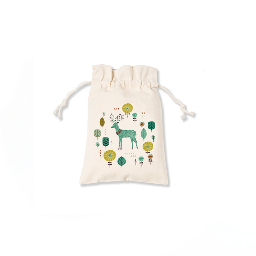 Reindeer In Woods Canvas Pouch