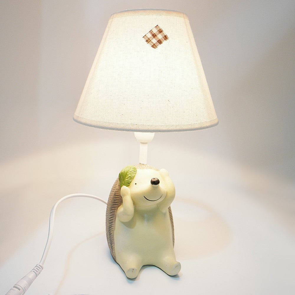 Hedgehog Covering Ears Lamp