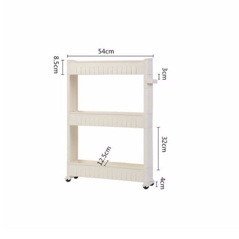 Slim Multi-Purpose 3-Tier Wheel Rack White