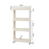 Slim Multi-Purpose 4-Tier Wheel Rack White
