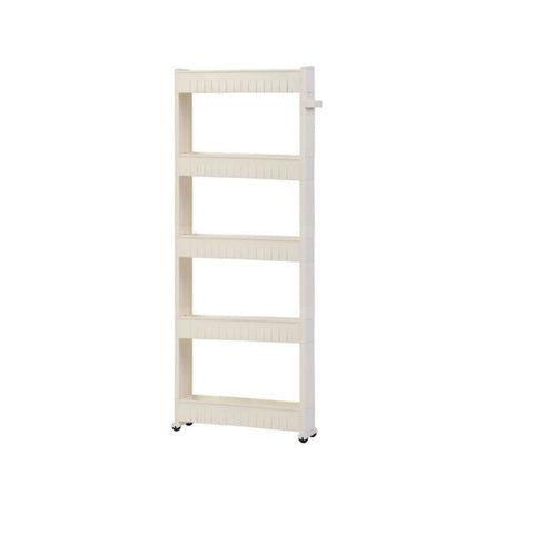 Slim Multi-Purpose 5-Tier Wheel Rack White