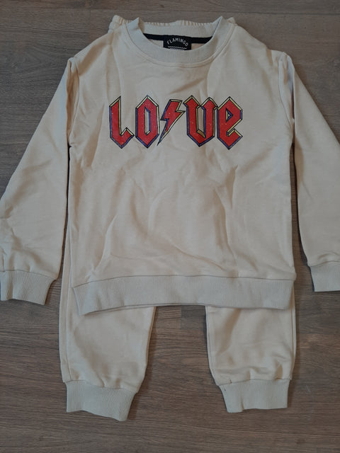 love sweatshirt beige