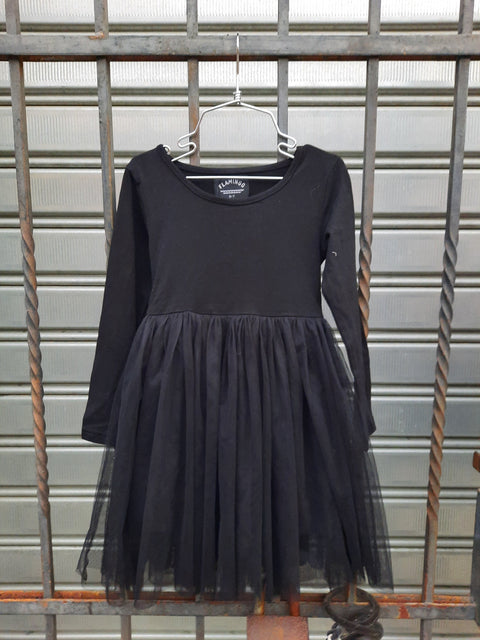 Gaya Long Sleeve Dress Black