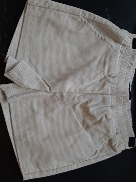 ivy corduroy short white