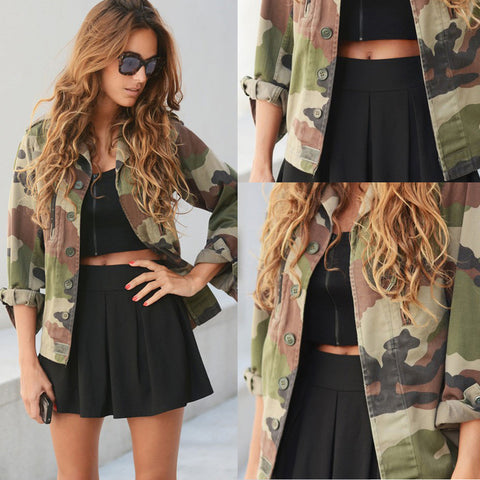 2018 Brand New Camouflage  Coat..in plus sizes