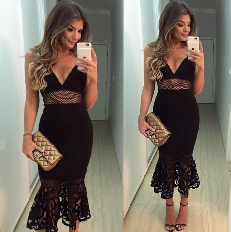 2017 Black Lace Girlie Style Sleeveless , Backless  Party Dress, will you be one step ahead..