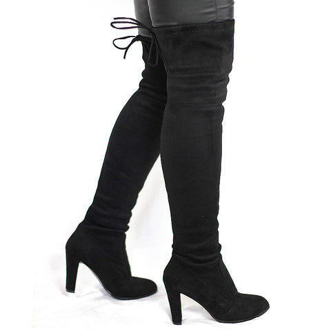 Girlie closet Faux Suede Thigh High Boots..