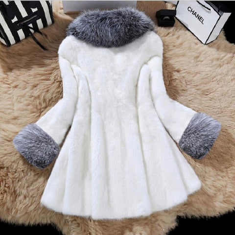 Faux Full Length Fur coat.. Free shipping