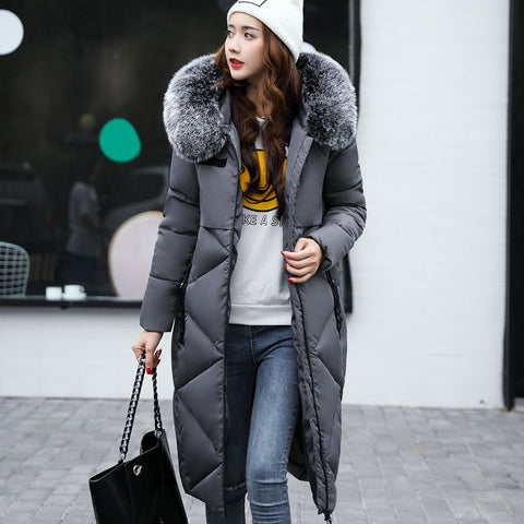 Girlie closet 2017 Fashion Winter Parka Long Coat