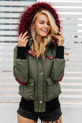 Hood padded parka winter jacket ..TOP Trending