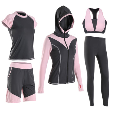 2018 new Girlie sexy 5 pieces fitness set