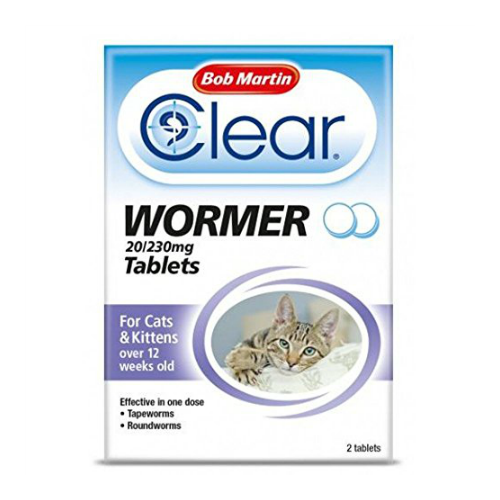 Bob Martin Clear Wormer For Cats and Kittens 2 Tablets