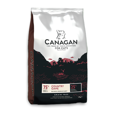 Canagan Country Game  for Cats (375g/1.5Kg/4Kg)