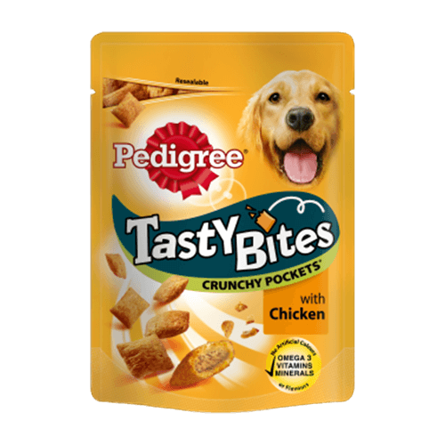 Pedigree Tasty Bites Crunchy Pockets with Chicken 130g