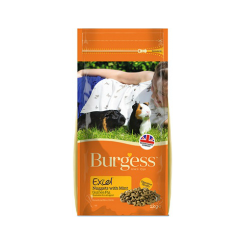Burgess Excel Nuggets with Mint Guinea Pig Food (2Kg/4Kg/10Kg)