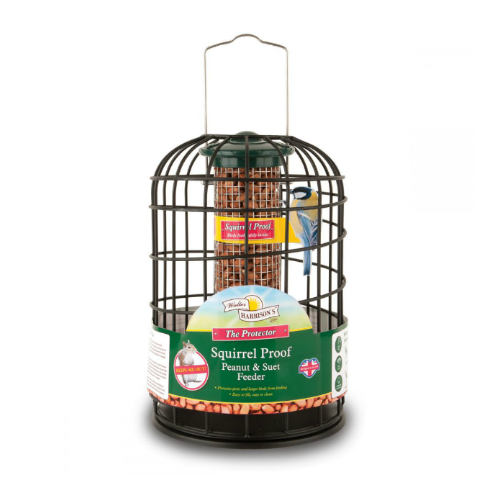 Walter Harrison's Squirrel Proof Protector Peanut & Suet Feeder 20cm