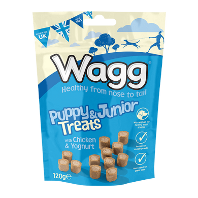 Wagg Puppy & Junior Treats with Chicken & Yoghurt 150g
