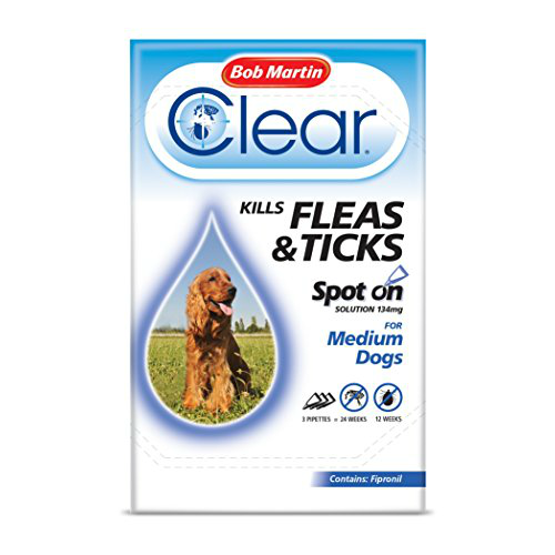 Bob Martin Flea Clear Spot on Treatment for Medium Dogs 3 Pack