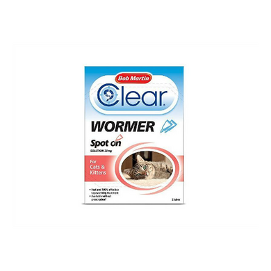Bob Martin Clear Spot On Wormer For Cats and Kittens 2 Pack
