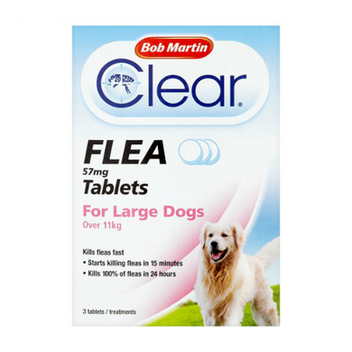 Bob Martin Flea Tablets Large Dogs Over 11kg 3 Tablets