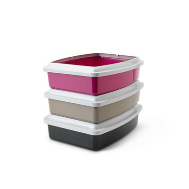 Savic Large Litter Tray with Rim (Random Colours)