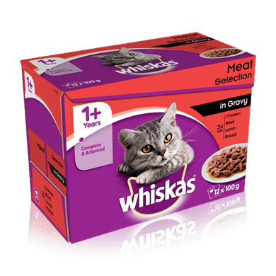 Whiskas Meat Selection in Gravy 12x100g