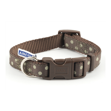 Ancol Brown Polka Dot Collar