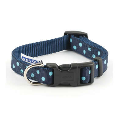 Ancol Blue Polka Dot Collar