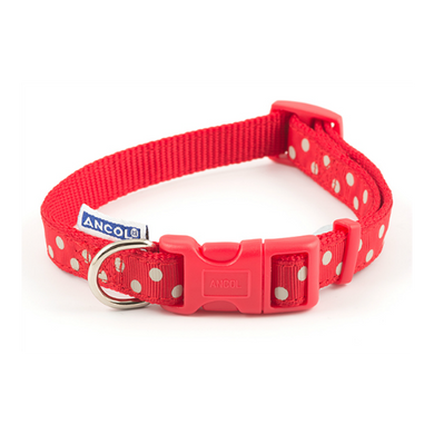 Ancol Red Polka Dot Collar