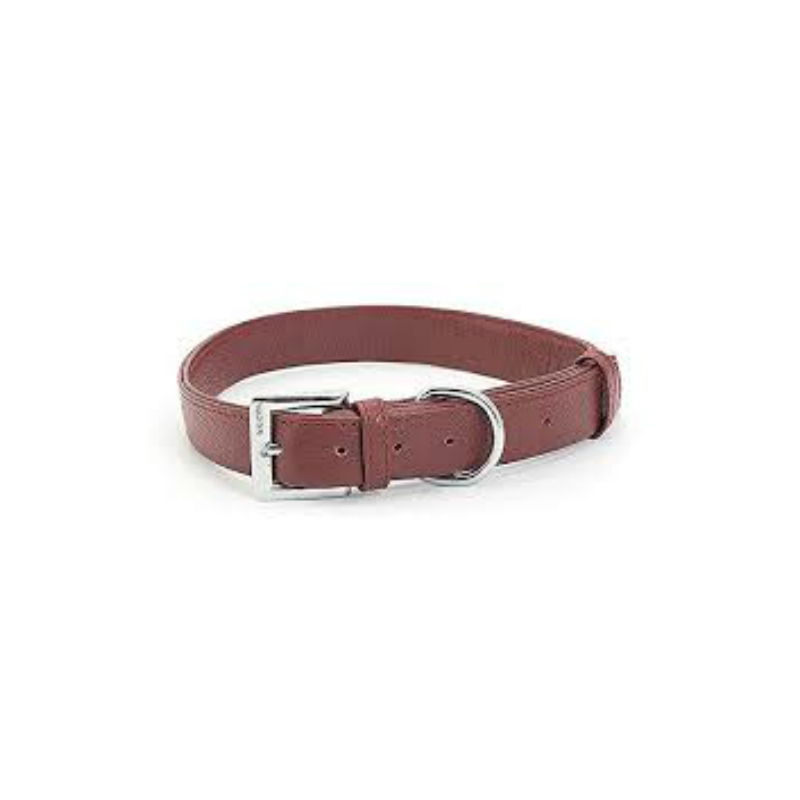 Ancol Indulgence Soft Folded Leather Collar Red
