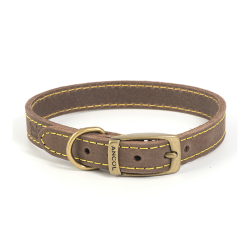 Ancol Sable Timberwolf Leather Collar