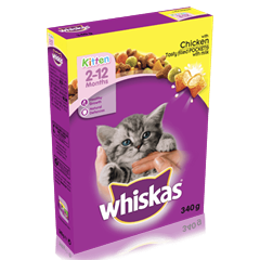Whiskas Kitten 2-12 Months Dry Chicken Pockets 340g