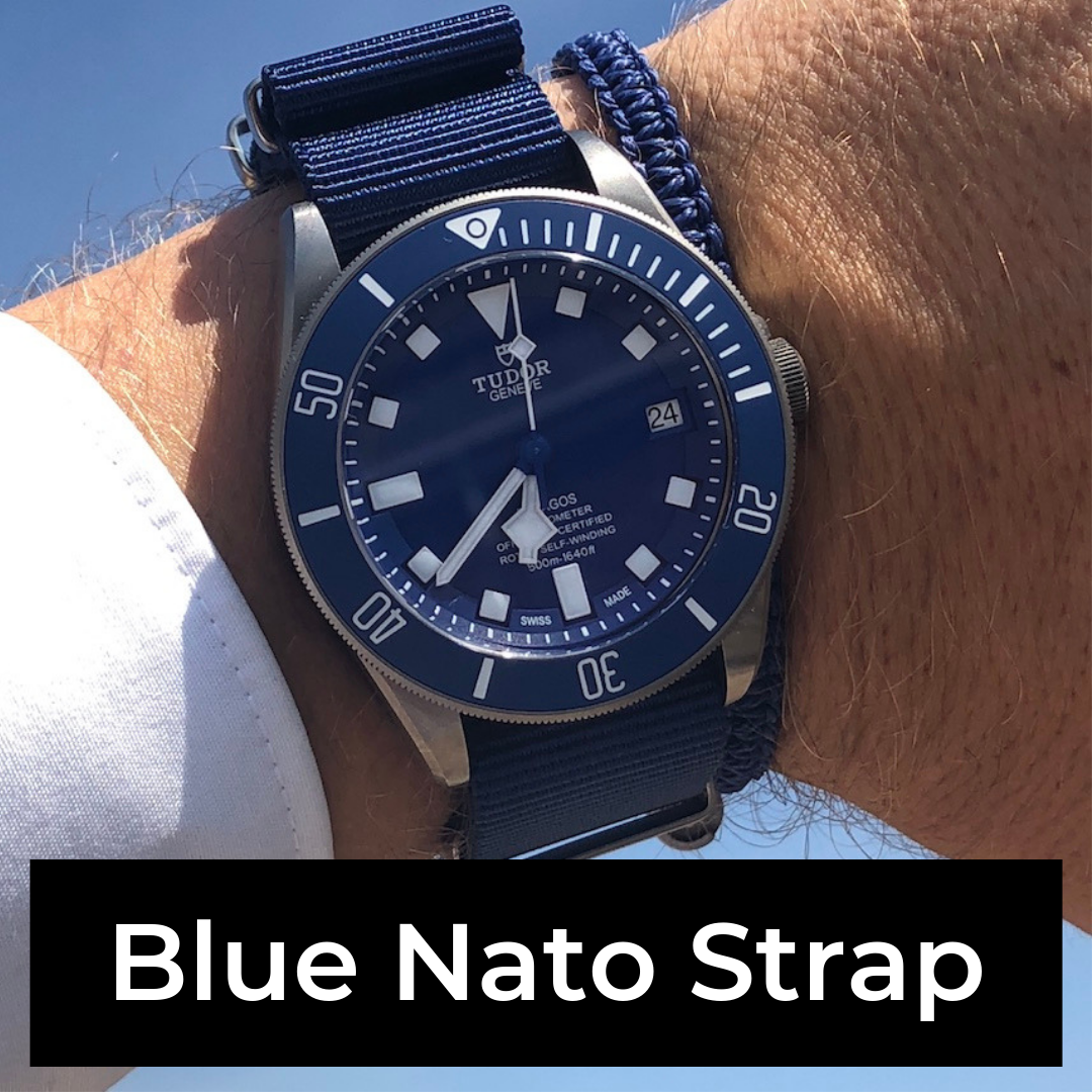blue nato strap watches lookbook